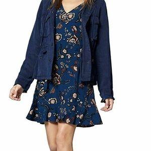 Sanctuary Harvest Moon Small Blue Dress NEW L3-07
